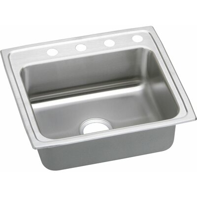 Gourmet 25 x 22 Kitchen Sink Faucet Drillings: 4 Hole