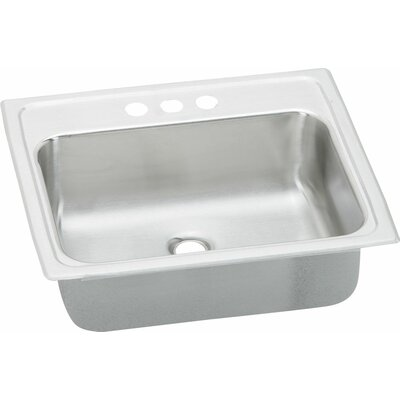 Asana 19 x 17 Kitchen Sink with Overflow Assembly Faucet Drillings: 2 Hole