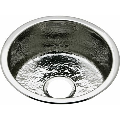 Mystic 16.25 x 16.25 Universal Mount Kitchen Sink Finish: Hammered Mirror