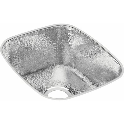 Gourmet 18 x 16 Rectangle Kitchen Sink Finish: Hammered Mirror
