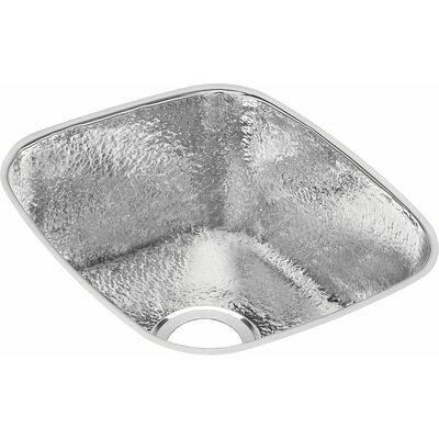 Gourmet 18 x 16 Rectangle Kitchen Sink Finish: Hammered Mirror