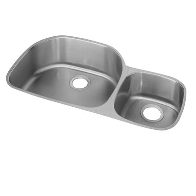 Lusterone 36.31 x 21.13 Double Basin Undermount Kitchen Sink