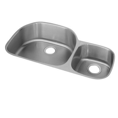 Lusterone 36.31 x 21.13 Harmony Undermount Double Bowl Kitchen Sink Bowl Configuration: Right