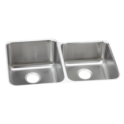 Lusterone 31.25 x 20.5 Double Basin Undermount Kitchen Sink