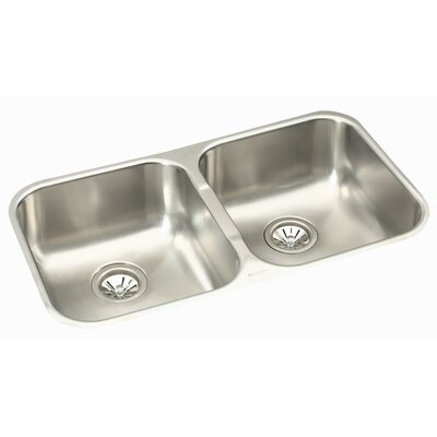 Dayton 31.75 x 18.25 Deep Double Bowl Undermount Kitchen Sink