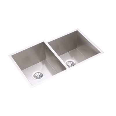 Avado 31.25 x 20.5 Double Bowl Multi-Size Kitchen Sink