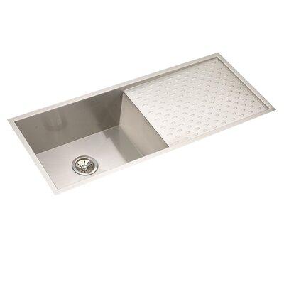 Crosstown 44 x 18 Undermount Kitchen Sink with Dashboard