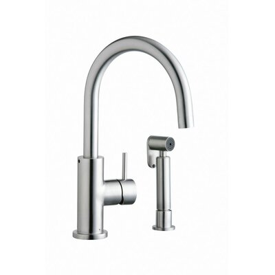 Allure Single Handle Deck Mount Kitchen Faucet Side Spray: With Side Spray