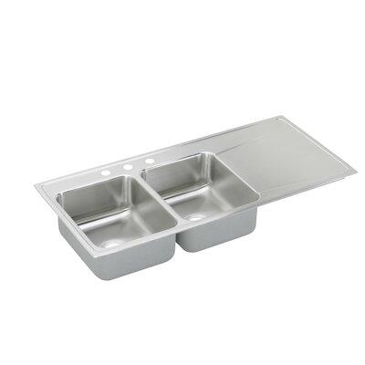 Lusterone 48 x 22 Double Basin Drop-In Kitchen Sink