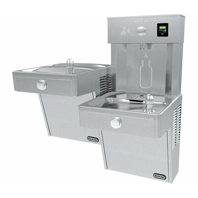 Filtered Vandal-Resistant EZH2O� Bottle Filling Station with Bi-Level Vandal-Resistant Cooler