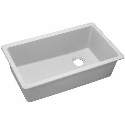 Quartz Classic  Single Bowl Undermount Kitchen Sink Finish: White