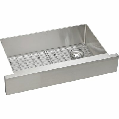 Crosstown 31.5 x 20.25 Stainless Steel Single Bowl Apron Front Kitchen Sink