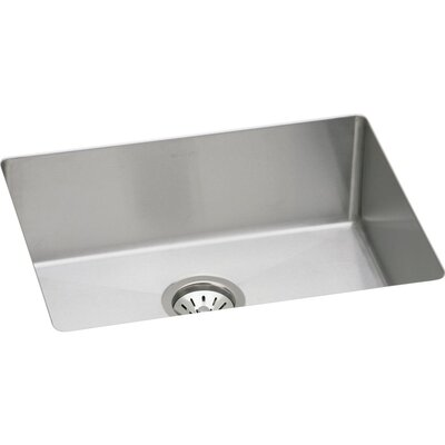 Crosstown 24 x 18 Undermount Kitchen Sink with Grid and Drain Assembly