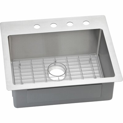 Crosstown 25 x 22 Stainless Steel Single Bowl Dual Mount Kitchen Sink