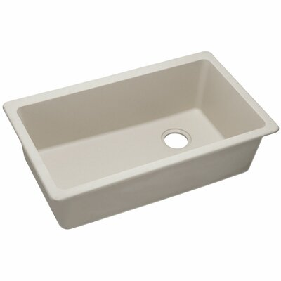 Quartz Classic  Single Bowl Undermount Kitchen Sink Finish: Bisque