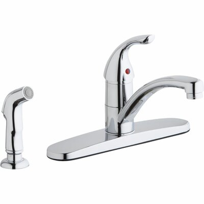 Single Handle Deck Mount Kitchen Faucet with Side Spray