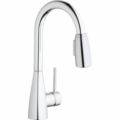 Avado� Single Handle Deck Mount Kitchen Faucet with Pull-Down Spray Finish: Chrome