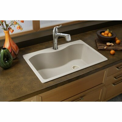 Quartz Classic 33 x 22 Drop-In Kitchen Sink Finish: Putty