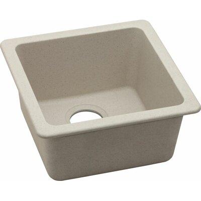 Quartz Classic 16.62 x 16.62 Dual Mount Bar Sink Finish: Bisque