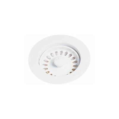 Disposer Flange 4.43 Grid Kitchen Sink Drain Finish: Glacier White