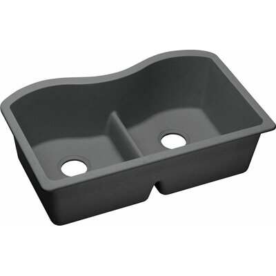 Quartz Classic 33 x 20.1 Undermount Kitchen Sink Finish: Dusk Gray