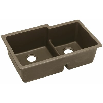 Gourmet 33 x 20.5 Double Bowl Undermount Sink Finish: Mocha