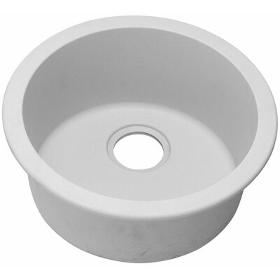 Gourmet 18.13 x 18.13 Universal Mount Single Bowl Kitchen Sink Finish: White