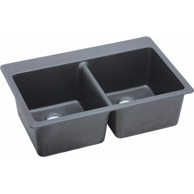 Quartz Classic 33 x 22 Kitchen Sink Finish: Dusk Gray
