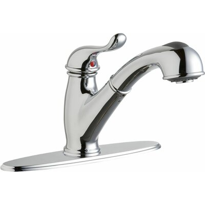 Everyday Single Handle Deck Mount Kitchen Faucet Finish: Chrome