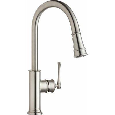 Explore Single Handle Deck Mount Kitchen Faucet Finish: Lustrous Steel