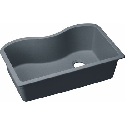 Quartz Classic 33 x 20 Undermount Kitchen Sink Finish: Dusk Gray
