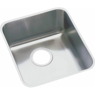 Lustertone 18.5 x 18.5 Undermount Single Bowl Kitchen Sink