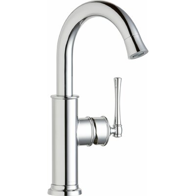 Explore Single Handle Deck Mount Kitchen Faucet Finish: Chrome