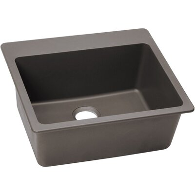 Classic 25 x 22 Single Bowl Top Kitchen Sink Finish: Greige