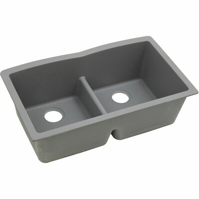 Classic 33 x 19 Double Bowl Kitchen Sink Finish: Greystone
