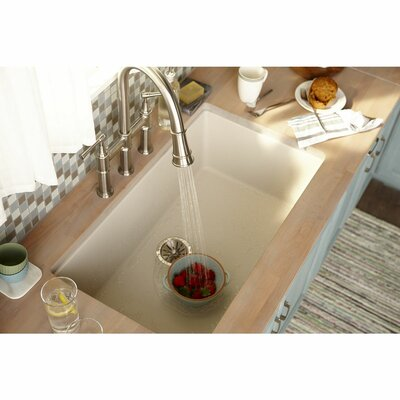 Classic 33 x 20.8 Single Bowl Top Kitchen Sink Finish: Bisque