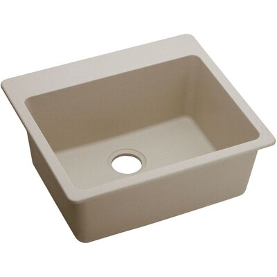 Classic 25 x 22 Single Bowl Top Kitchen Sink Finish: Putty
