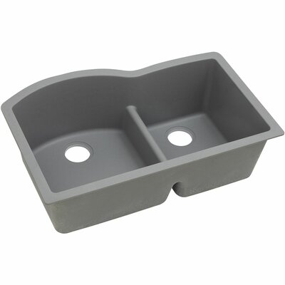 Classic 33 x 22 Double Bowl Kitchen Sink Finish: Greystone