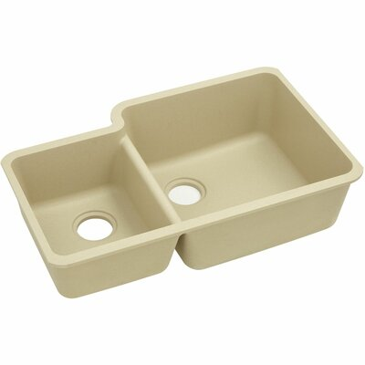 Classic 33 x 20.7 Double Bowl Kitchen Sink Finish: Sand
