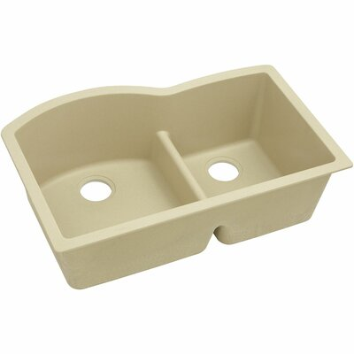 Classic 33 x 22 Double Bowl Kitchen Sink Finish: Sand