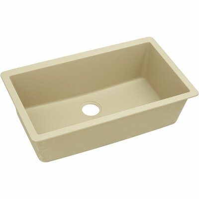 Classic 33 x 18.4 Single Bowl Kitchen Sink Finish: Sand