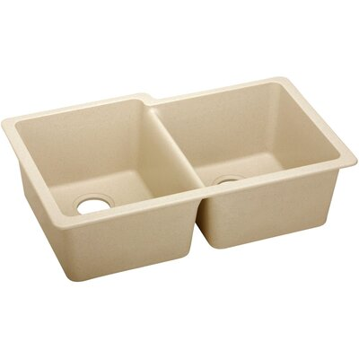 Classic 33 x 20.5 Double Bowl Kitchen Sink Finish: Sand