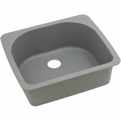 Classic 25 x 22 Single Bowl Top Kitchen Sink Finish: Greystone