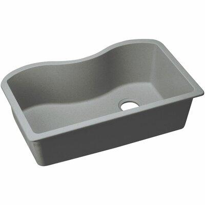 Classic 33 x 20 Single Bowl Kitchen Sink Finish: Greystone