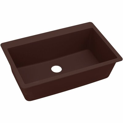 Classic 33 x 20.8 Single Bowl Top Kitchen Sink Finish: Pecan