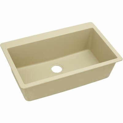 Classic 33 x 20.8 Single Bowl Top Kitchen Sink Finish: Sand