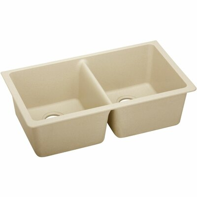 Classic 33 x 18.8 Double Bowl Kitchen Sink Finish: Sand