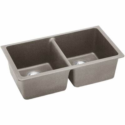 Classic 33 x 18.8 Double Bowl Kitchen Sink Finish: Greige