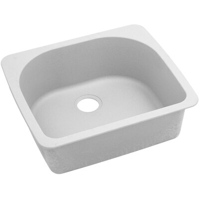 Classic 25 x 22 Single Bowl Top Kitchen Sink Finish: White