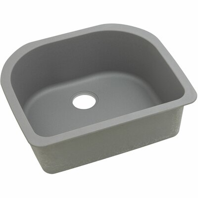 Classic 25 x 22 Single Bowl Kitchen Sink Finish: Greystone